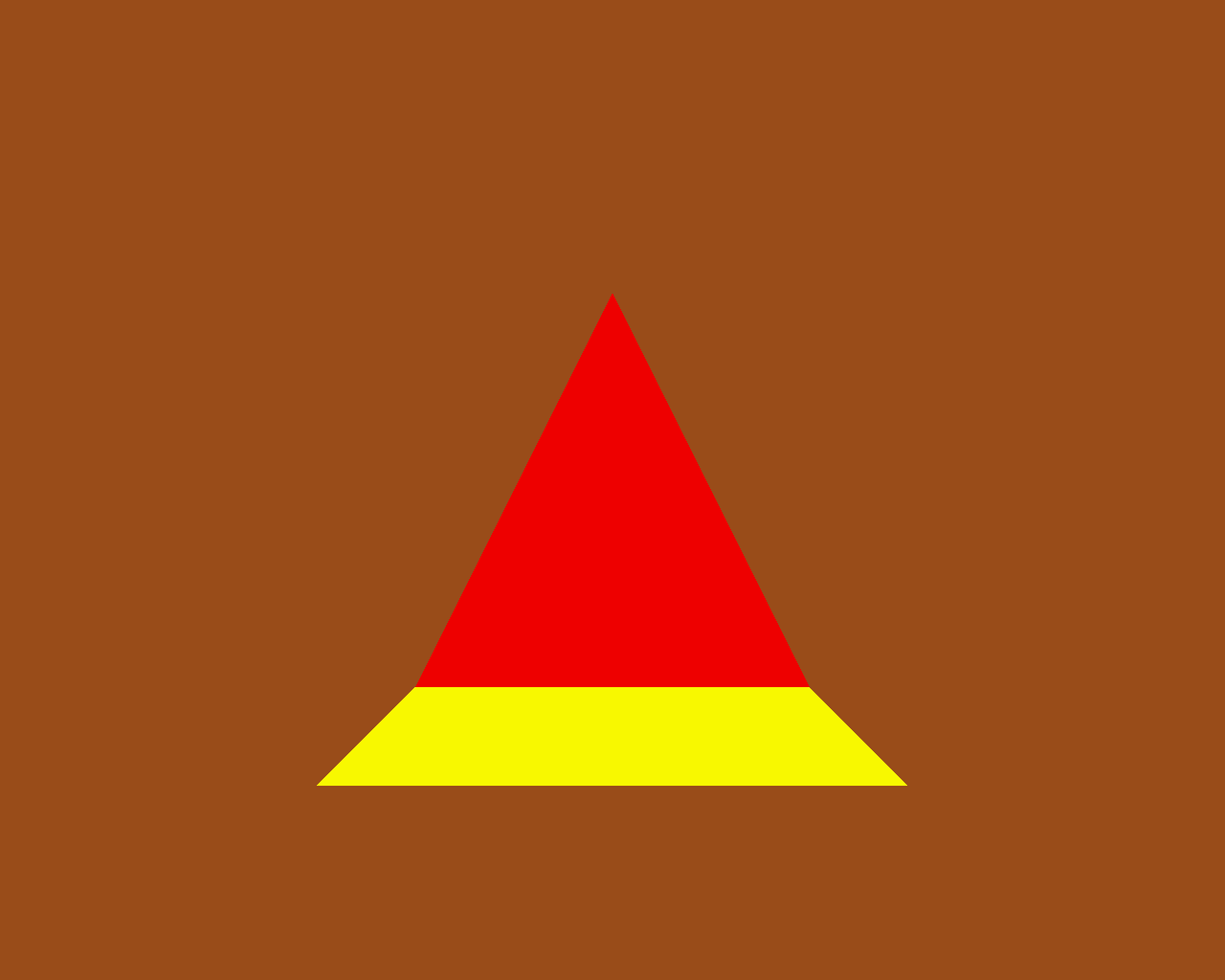Red triangle, yellow square